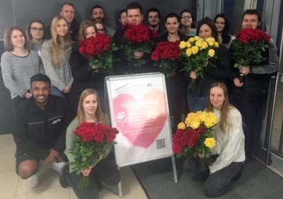 Valentinstag am BKLK: Eine Rose für den guten Zweck!
